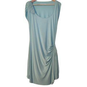 Soft Surroundings Draped Short Sleeve Midi Dress